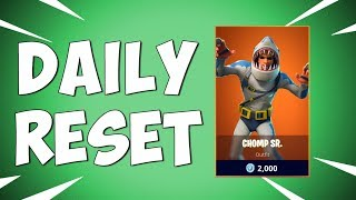 NEW SHARK SKIN CHOMP SR - Fortnite Daily Reset & NEW Items in Item Shop