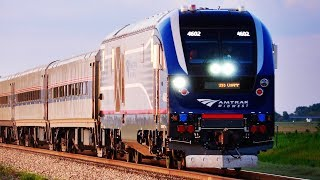 NEW CHARGER Locomotives on Amtrak Midwest Trains!
