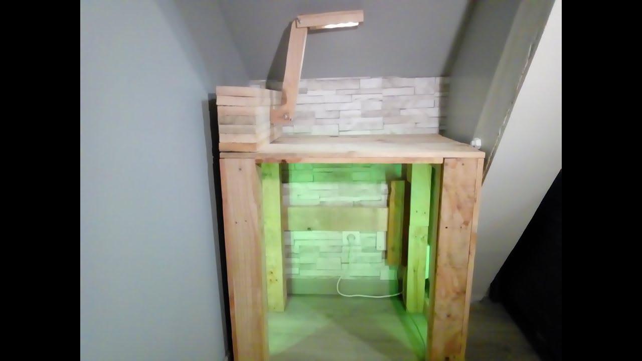 Présentation d un bureau en palette fait maison youtube