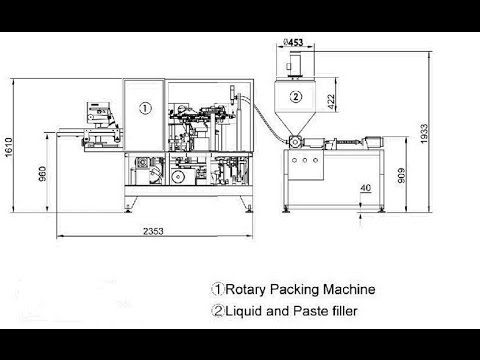 automatic preformed pouch with spout packaging line paste