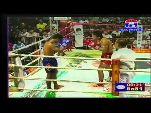 International Khmer Boxing on TV5 on 22 Sep 2013 អូត ភូថង CAM)  VS  សែន ឆាយណា (TH)