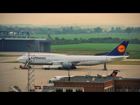 A Surprising Visitor - Lufthansa Boeing 747-8I at Leipzig/Halle Airport (Germany)