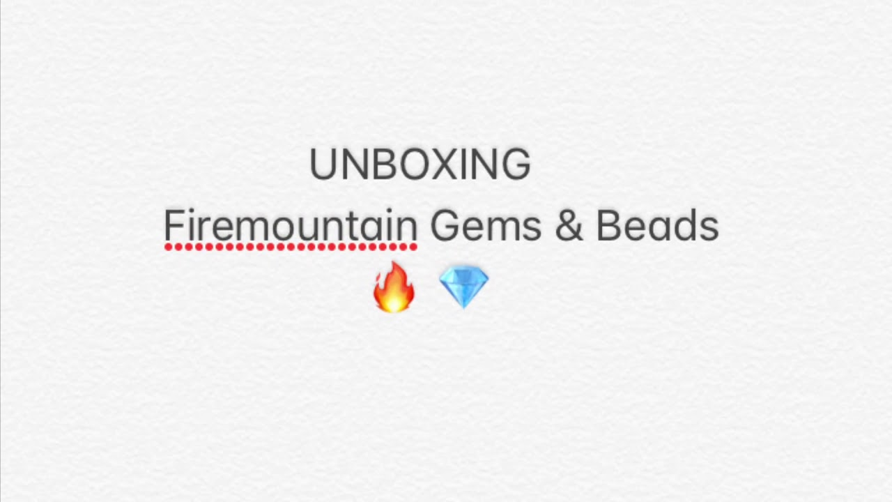 9ac928a9f Fire Mountain Beads & Gems/ UNBOXING / Jewelry Making Supplies ...