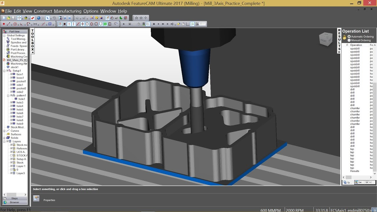 HOW TO GENERATE PROGRAM FROM DXF FILE BY USING FEATURECAM WITH 3D  SIMULATION Part-1