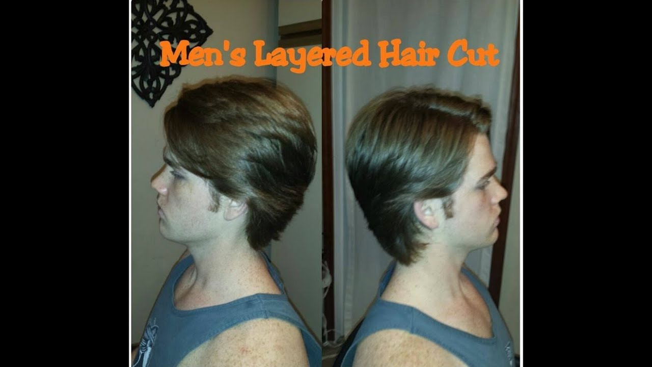 How To Cut Men39;s Layers ~ Medium/ Long Length Hair Cut  YouTube