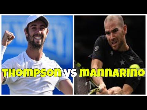 Jordan Thompson vs Adrian Mannarino   1R Sydney 2019 Highlights HD