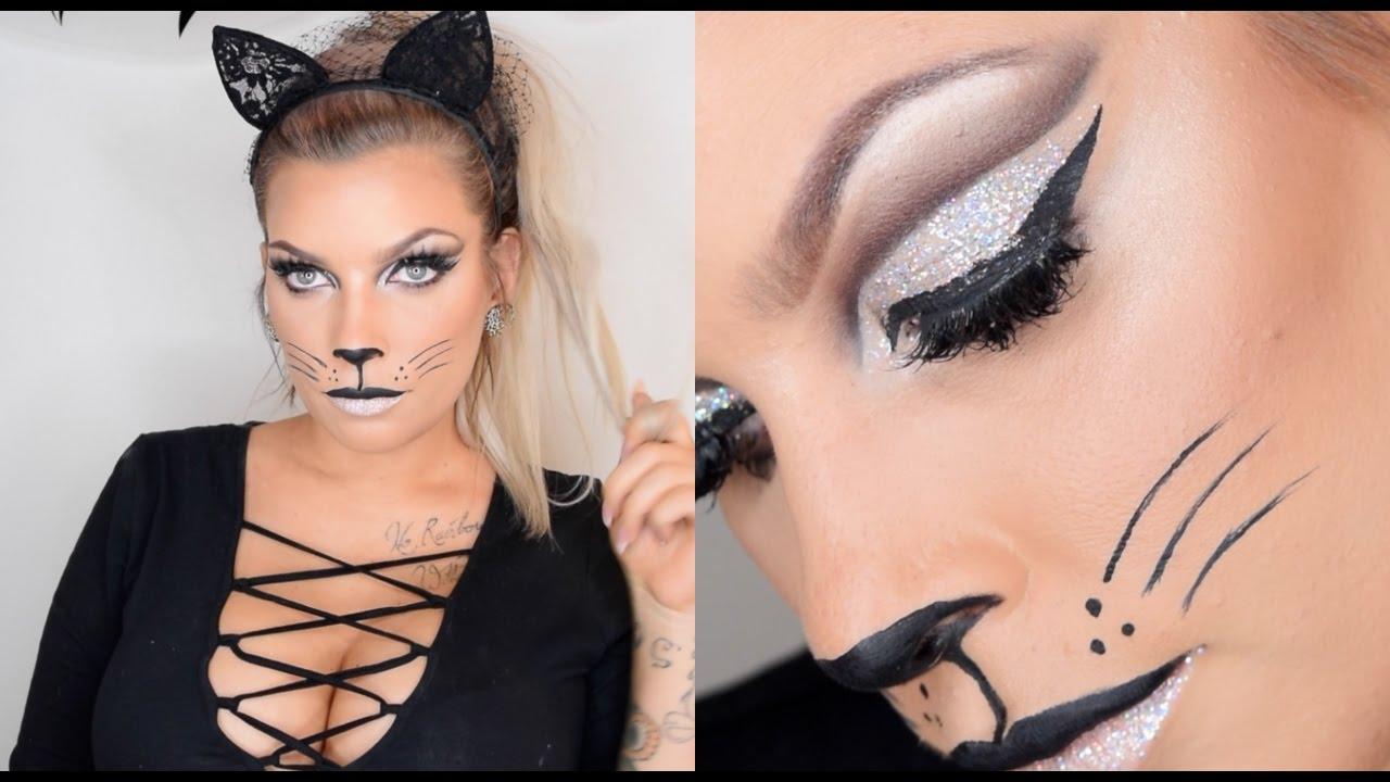 Last Minute Halloween Cat Makeup Youtube