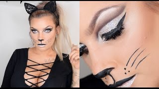 Last Minute Halloween CAT MAKEUP