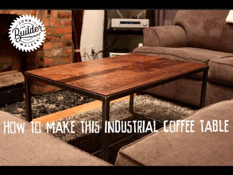 How To Make  An Industrial Furniture Wood and Metal Coffee Table