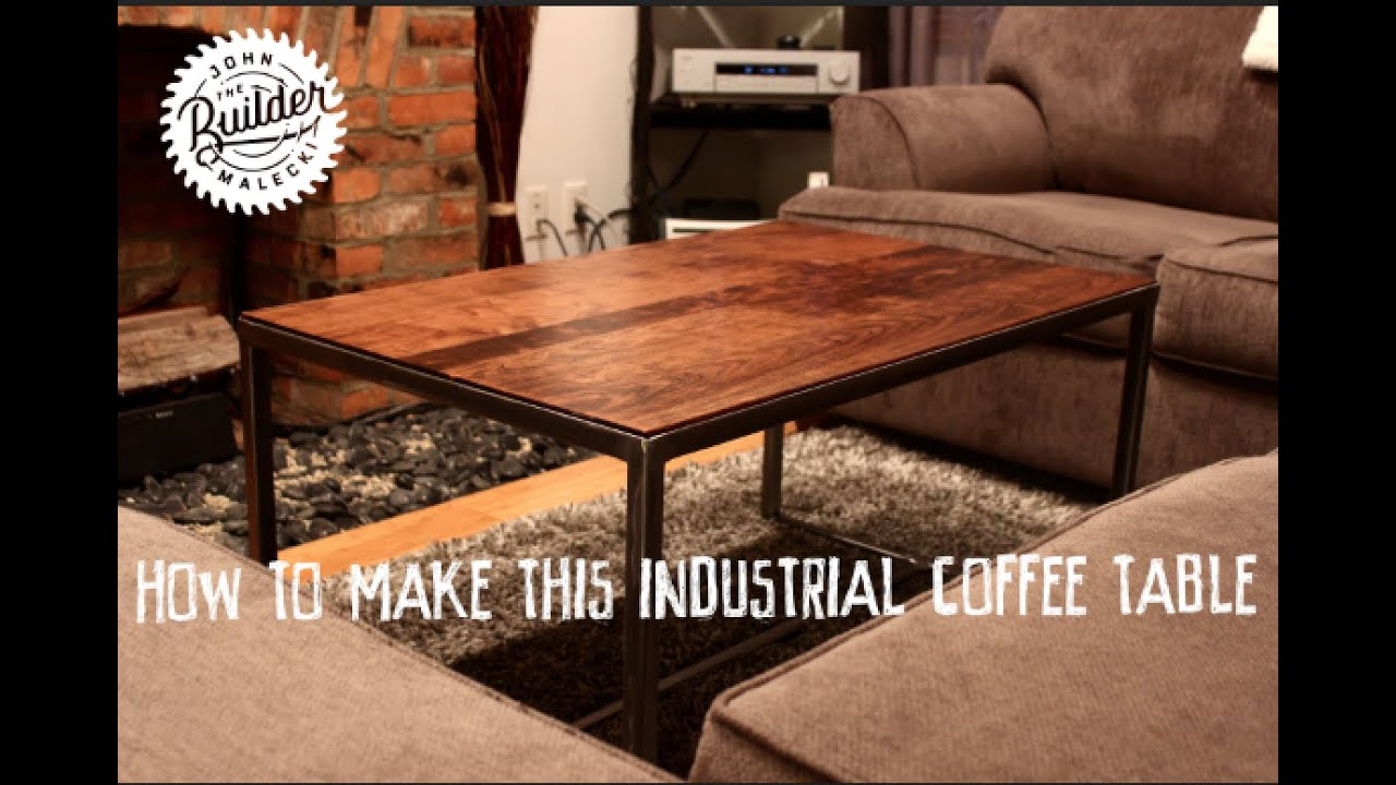 How To Make An Industrial Furniture Wood And Metal Coffee Table   YouTube
