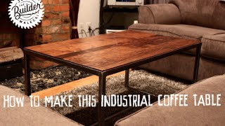 How to make an Industrial wood and metal coffee table