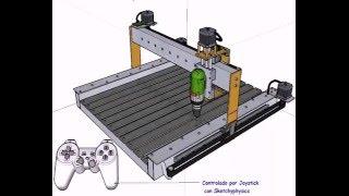 Animacion 3D CNC SketchUp