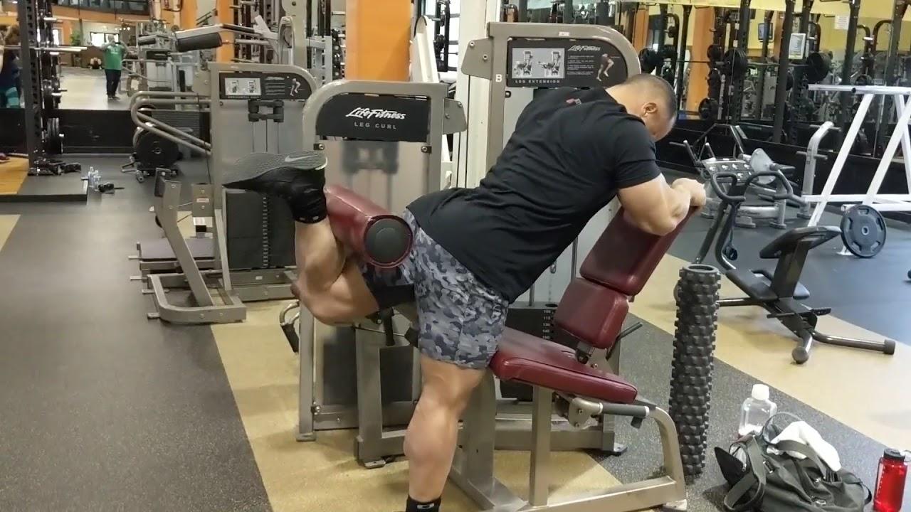 Standing Single Leg Curl Alternative - YouTube
