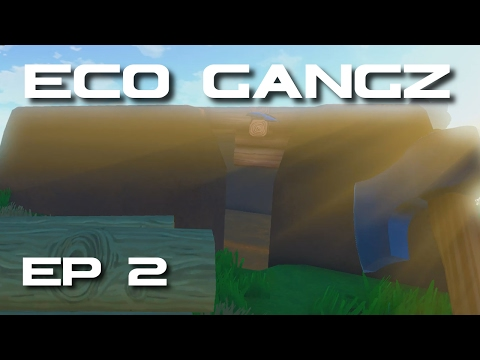 ECO GangZ - Town Tour and My Dirt Hut! (ECO Early Access Gameplay)