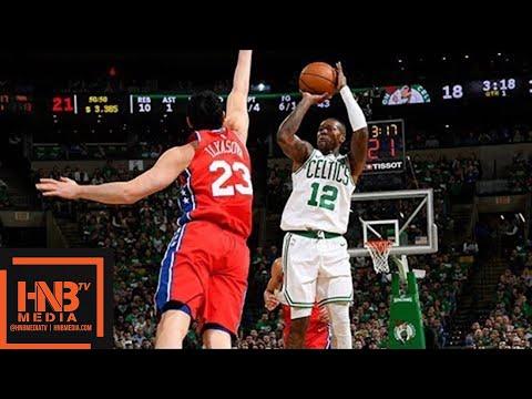 Philadelphia Sixers vs Boston Celtics 1st Half Highlights / Game 1 / 2018 NBA Playoffs