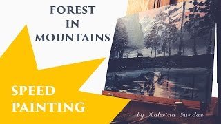 Mountains, time lapse painting // ускоренная живопись, мистический пейзаж гор