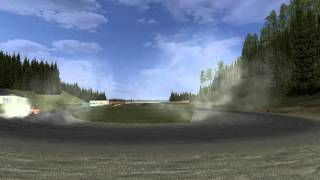 Mercedes drift test Cosworth M102 engine sounds