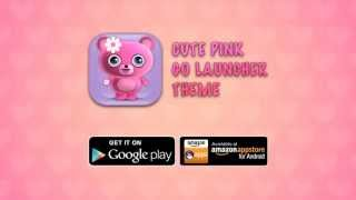 Cute Pink Go Launcher Theme
