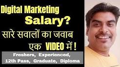 Salary of digital marketing Jobs | Digital Marketing Courses in Bangalore