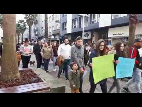 Animalistas maniféstanse en Pontevedra contra a caza