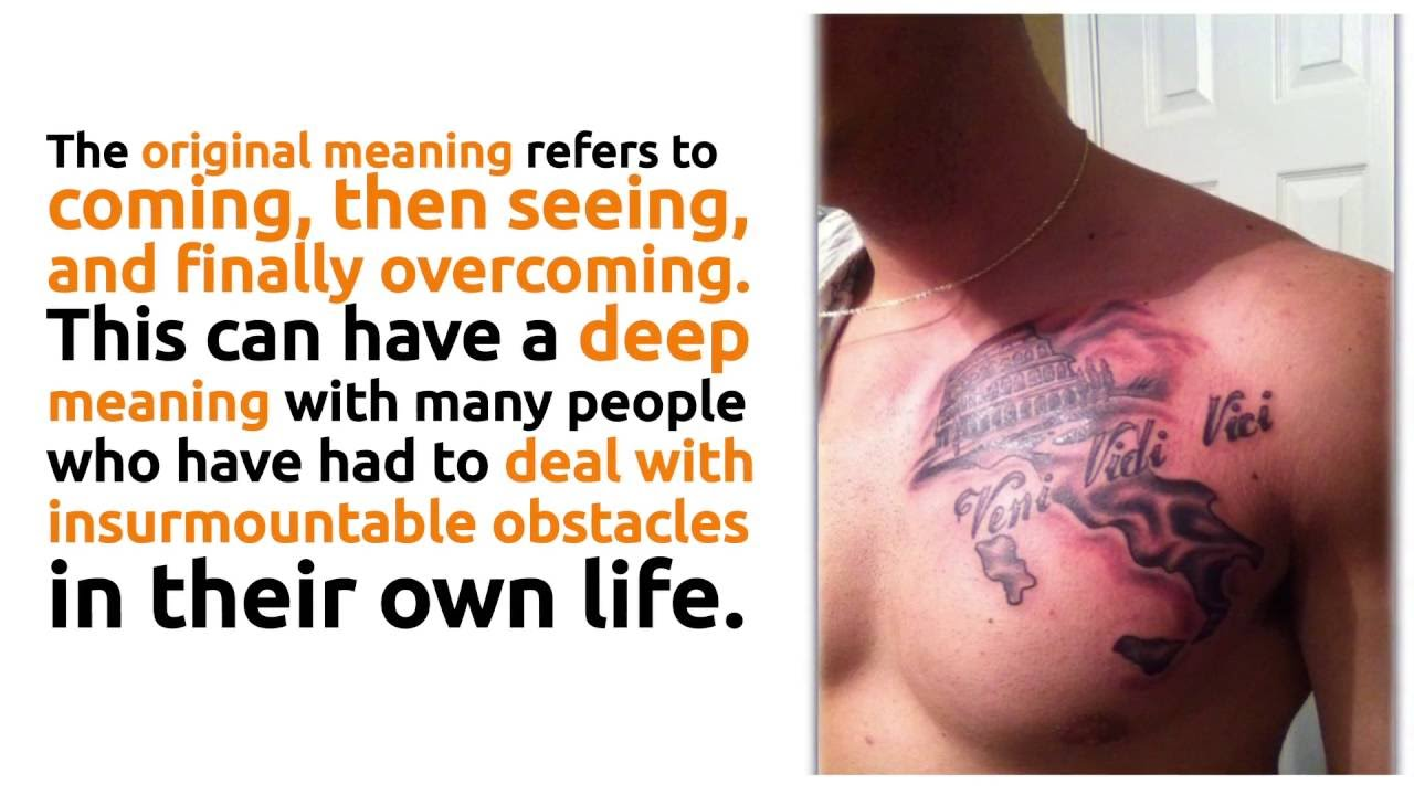 Veni Vidi Vici Tattoo Designs And Meanings Youtube