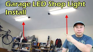 Garage Led Shop Light Fixture - Replaces Flourescent