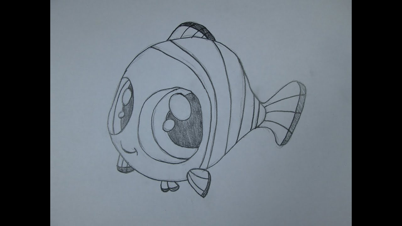 How to draw Nemo from Finding Nemo - YouTube