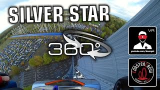 360°  Silver Star | Get Ready for the Drop - Hyper Roller Coaster | #360video VR POV | Europa Park