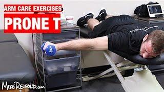 Prone Shoulder T Exercise - Arm Care Shoulder Program