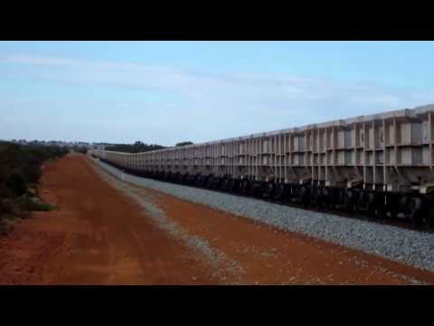 Triple DFZ Locomotives On Karara Mining Iron Ore Train