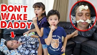 Don't Wake Daddy Challenge in Real Life: Brianna and Skyler Tease Daddy Video