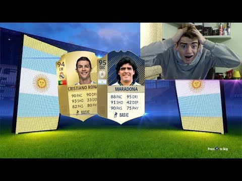 95 MARADONA + CRISTIANO RONALDO IN A PACK !!! TOP 5 BEST PACK OPENING! FIFA 18 ITA #96