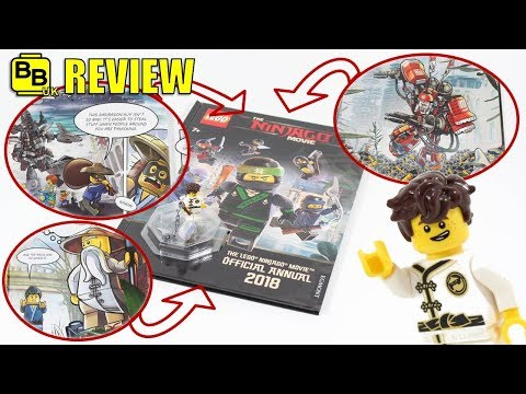 2018 LEGO NINJAGO MOVIE OFFICIAL ANNUAL BOOK REVIEW!!