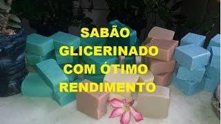 SABÃO GLICERINADO COM ÓTIMO RENDIMENTO