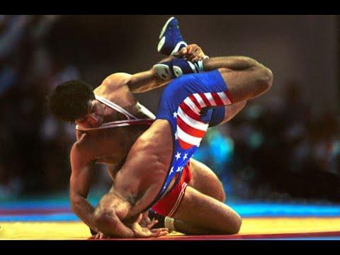 Олимпийские игры 1996 вольная борьба (68 кг финал) Вадим Богиев (RUS) Vs Таусенд Сандерс (USA)