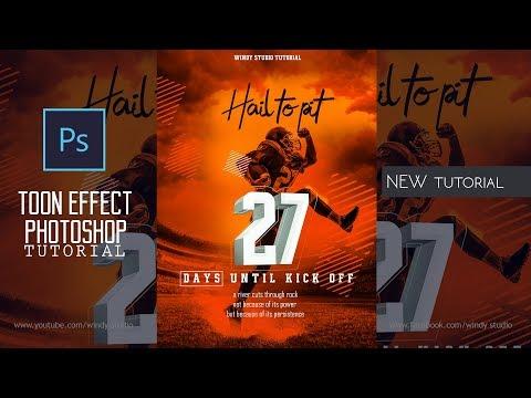 Adobe Photoshop Tutorial L Sports Poster Design L Easy Tips