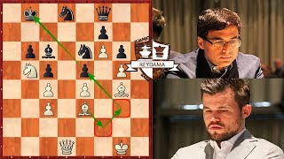 BRILLANTES! Carlsen vs Anand  | GRENKE Chess Classic 2019 (Ronda 3)