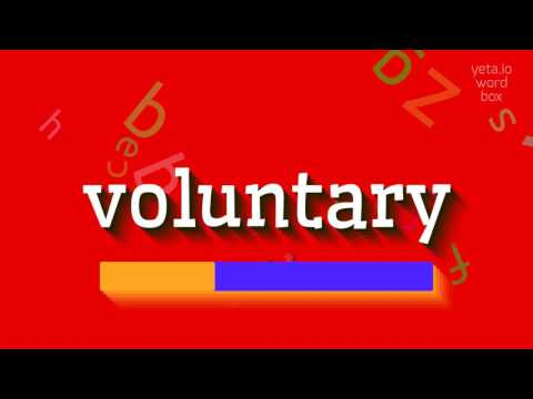 """How to say """"voluntary""""! (High Quality Voices)"""