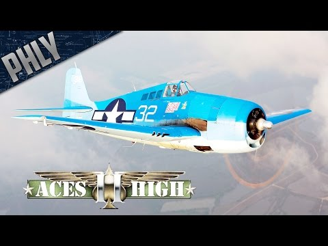 ACES HIGH- F6F Hellcat Carrier Ops (Aces High Gameplay)
