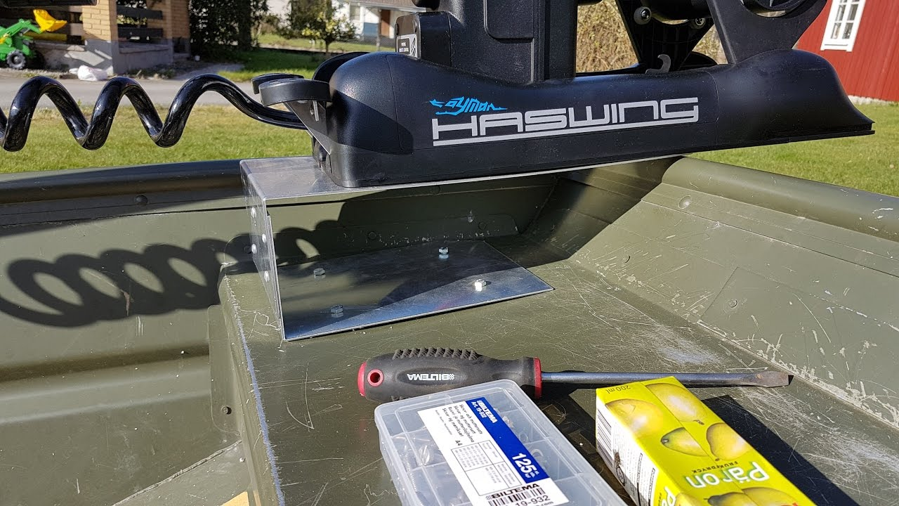 Diy Bow Mount Trolling Motor Bracket For A Jon Boat