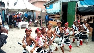 AGBEKO DANCE... BY SUNNYFIELD PUPILS DURING THEIR GRADUATION.