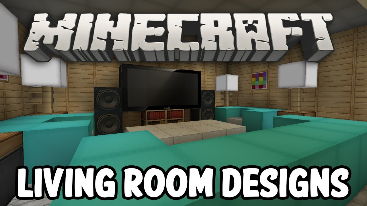 Modern Living Room Minecraft minecraft interior design - living room edition - youtube