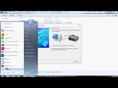 Ini adalah cara mudah instal Driver Printer Cannon ip2770 dan mp287 menggunakan CD. Untuk sobat yang.