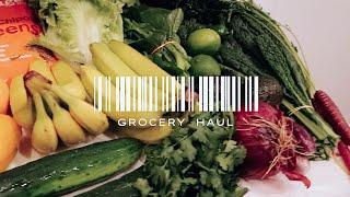 GROCERY HAUL & SMALL FRIDGE ORGANIZATION | Vegan Grocery Shop with Me