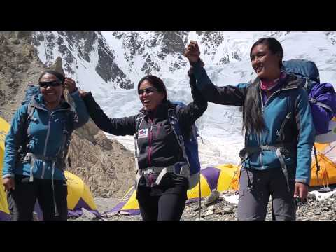 """ICIMOD supports K2 Expedition """"Women Climbing for Climate Change"""""""