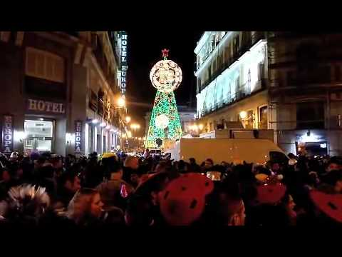 New Year's Eve in Madrid, Spain