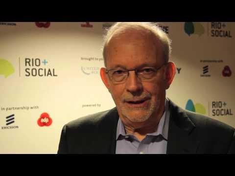 Tony Lake of UNICEF interview on social media at Rio + Social