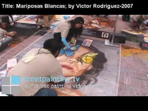 Streetpainting.tv: At Festival Bella Via - Ana Cel...