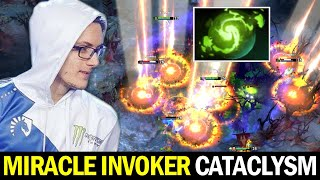 MIRACLE INVOKER Refresher Cataclysm Combo — Warm Up before OGA Dota PIT