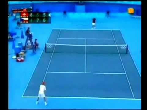 Federer vs Berdych Athens Olympics 2004